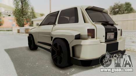 Renault Turbo-S for GTA San Andreas left view