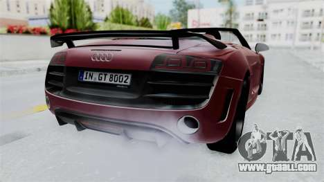 Audi R8 Spyder 2014 LB Work for GTA San Andreas right view