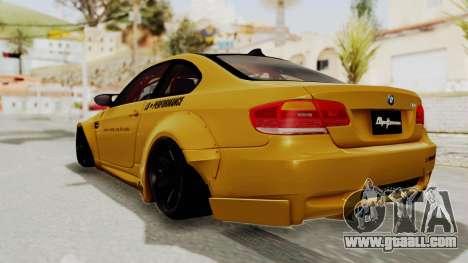 BMW M3 E92 Liberty Walk for GTA San Andreas left view
