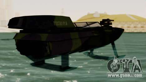 Triton Patrol Boat from Mercenaries 2 for GTA San Andreas left view