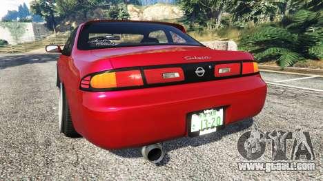 GTA 5 Nissan Silvia S14 Zenki Stance rear left side view