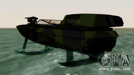 Triton Patrol Boat from Mercenaries 2 for GTA San Andreas back left view
