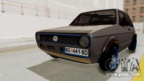 Volkswagen Golf 1 for GTA San Andreas