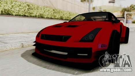 GTA 5 Annis Elegy Twinturbo No Spec for GTA San Andreas right view