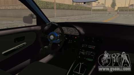 Nissan Silvia Sil80 for GTA San Andreas inner view