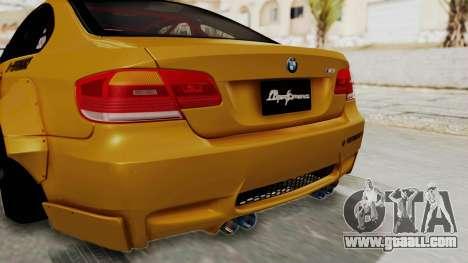 BMW M3 E92 Liberty Walk for GTA San Andreas bottom view