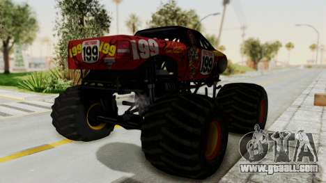 Pastrana 199 Monster Truck for GTA San Andreas right view