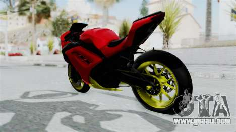 Kawasaki Ninja 250FI Anak Jalanan for GTA San Andreas back left view