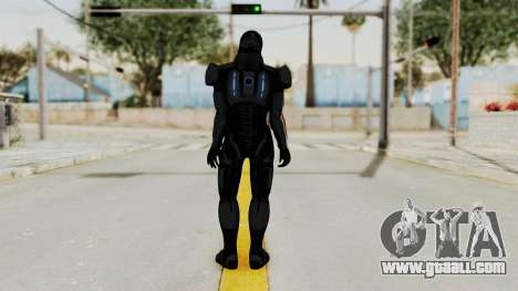 ME2 Shepard Default N7 Armor with Death Mask for GTA San Andreas third screenshot