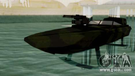 Triton Patrol Boat from Mercenaries 2 for GTA San Andreas right view