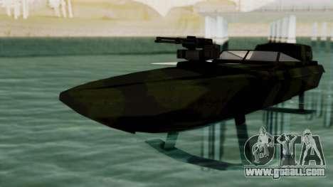 Triton Patrol Boat from Mercenaries 2 for GTA San Andreas right view