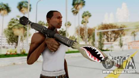 GTA 5 Rocket Launcher Shark mouth for GTA San Andreas