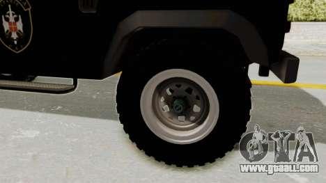 Land Rover Defender SAJ for GTA San Andreas back view