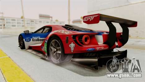 Ford GT 2016 LM for GTA San Andreas left view