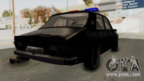 Dacia 1310 TX Turbo Police for GTA San Andreas back left view