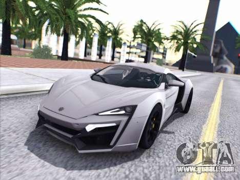 W Motors Lykan Hypersport 2015 HQ for GTA San Andreas