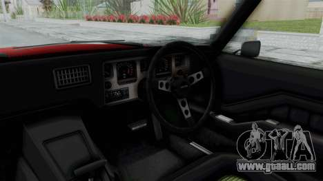 Holden Monaro GTS 1971 AU Plate HQLM for GTA San Andreas inner view