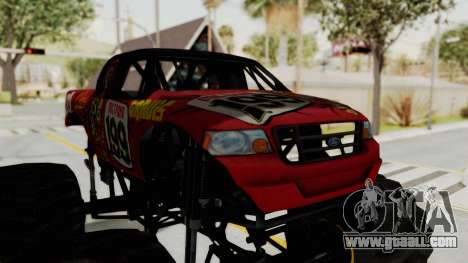 Pastrana 199 Monster Truck for GTA San Andreas back view