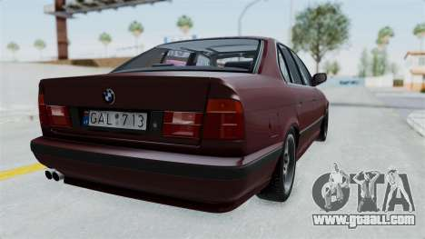 BMW 525i E34 1994 LT Plate for GTA San Andreas left view