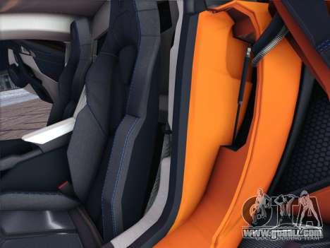 W Motors Lykan Hypersport 2015 HQ for GTA San Andreas inner view