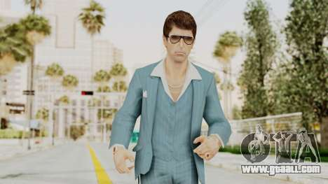 Scarface Tony Montana Suit v3 with Glasses for GTA San Andreas