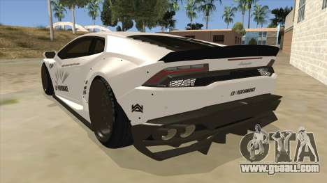 Lamborghini Huracan Liberty Walk for GTA San Andreas back left view