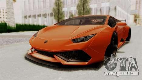 Lamborghini Huracan Libertywalk Kato Design for GTA San Andreas