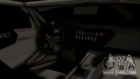 BMW Z4 GT3 Tobisawa Misaki for GTA San Andreas inner view