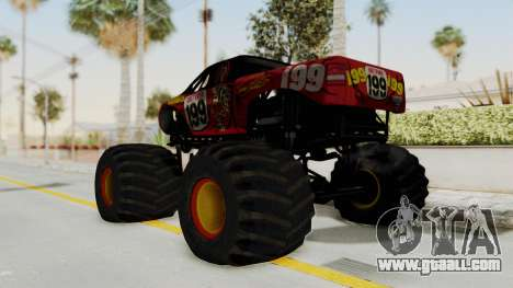 Pastrana 199 Monster Truck for GTA San Andreas left view