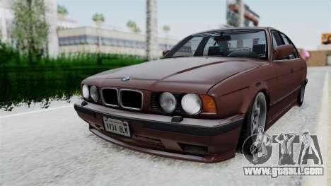 BMW 525i E34 1994 SA Plate for GTA San Andreas back left view