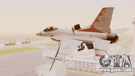 General Dynamics F-16A USAF Thunderbirds for GTA San Andreas right view