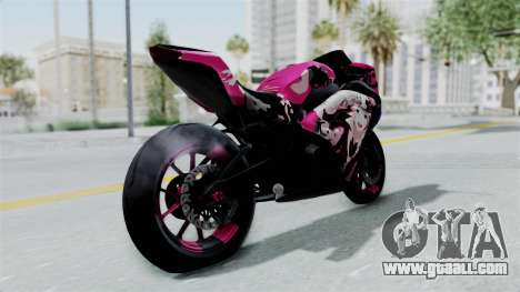 Kawasaki Ninja 250FI Enoshima Junko for GTA San Andreas back left view