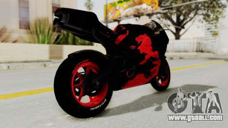 Bati Batik Hellboy Motorcycle v3 for GTA San Andreas right view