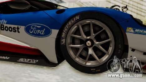Ford GT 2016 LM for GTA San Andreas back view