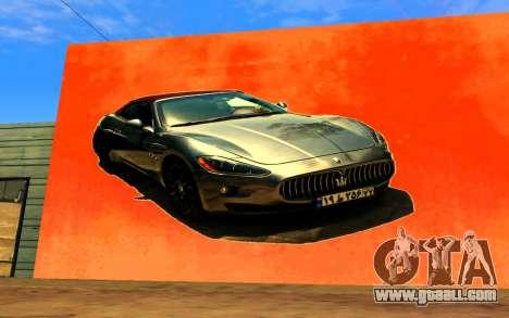 Maserati Wall Grafiti for GTA San Andreas