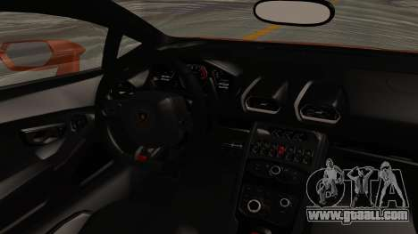 Lamborghini Huracan Libertywalk Kato Design for GTA San Andreas inner view