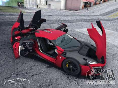 W Motors Lykan Hypersport 2015 HQ for GTA San Andreas back left view