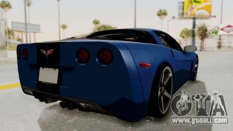 Chevrolet Corvette C6 for GTA San Andreas right view
