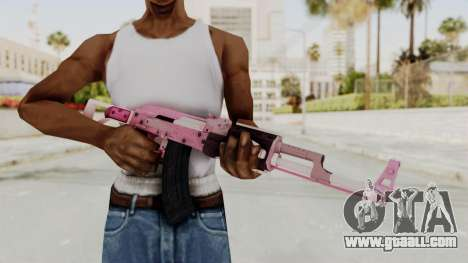 Assault Rifle Pink for GTA San Andreas