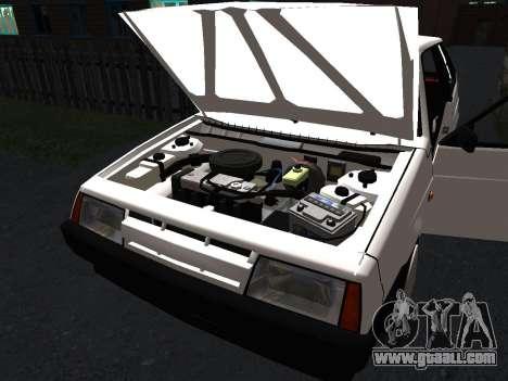 VAZ 2108 Stock by Greedy for GTA San Andreas interior