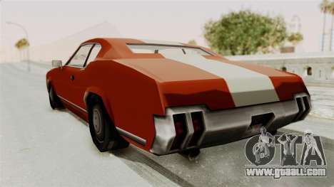 Beta VC Sabre Turbo for GTA San Andreas right view