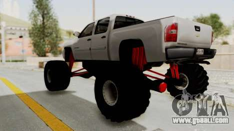 Chevrolet Silverado 2011 Monster Truck for GTA San Andreas right view