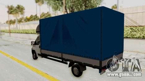 Fiat Ducato Work Van v2 for GTA San Andreas right view