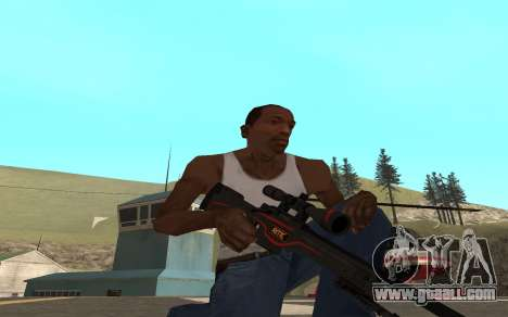 Redline weapon pack for GTA San Andreas fifth screenshot