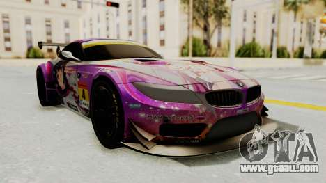 BMW Z4 GT3 Tobisawa Misaki for GTA San Andreas back left view