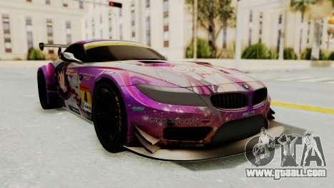BMW Z4 GT3 Tobisawa Misaki for GTA San Andreas back left view