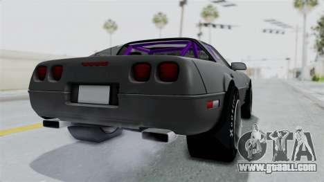 Chevrolet Corvette C4 Drag for GTA San Andreas back left view