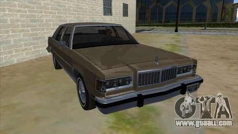 Mercury Grand Marquis 1986 v1.0 for GTA San Andreas back view
