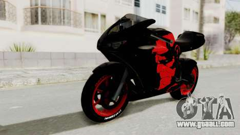 Bati Batik Hellboy Motorcycle v3 for GTA San Andreas back left view