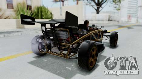 Ariel Atom 500 V8 for GTA San Andreas back left view
